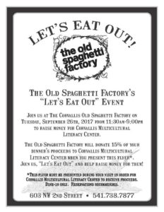 OSF dineout flyer